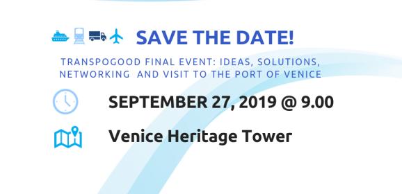 Save the date! Conferenza finale TRANSPOGOOD, 27 settembre 2019, Maghera (Venezia)